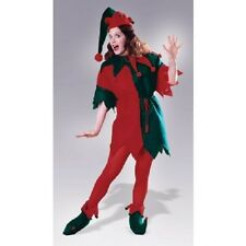 Elf Tunic Santa's Helper Red Green Christmas Holiday Adult Womens Costume  Std
