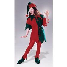 Elf Tunic Santa's Helper Red Green Christmas Holiday Adult Womens Costume  Std