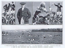 HUNTING Meeting of Worcester Park and Buckland Beagles - Vintage Print 1922