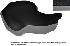 BLACK & GREY CUSTOM FITS KAZUMA 100 ATV QUAD LEATHER SEAT COVER