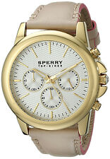 Sperry 103263 Top Spider Silver Dial Leather Strap Chronograph Women's Watch