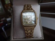 Judith Ripka Retired 14k Yellow Gold Clad Watch NIB Retail $299.00