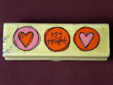 Used  My Heart To Yours Valentines Day Love Wedding Anniversary  Rubber Stamp