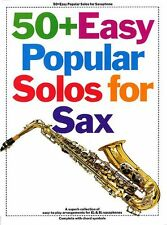 50+ Easy Popular Solos For Saxophone Play BeBopA-Lula I Believe Sax Music Book
