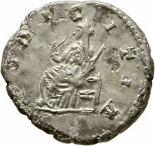 Ancient Rome 218- 222 AD JULIA MAESIA DENAR FOURREE PUDICITIA