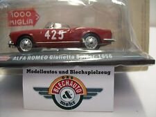 "Alfa Romeo Giulietta Spider ""Mille Miglia"" 1956, HACHETTE Collection 1:43, OVP"