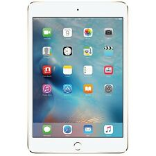 New Apple iPad Mini 4 16GB Wi-Fi + 4G Cellular Unlocked 7.9in Tablet- Gold