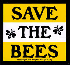 Save The Bees - Small Environmental Bumper Sticker / Decal