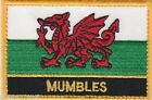 Mumbles Wales Cymru Town & City Embroidered Sew on Patch Badge