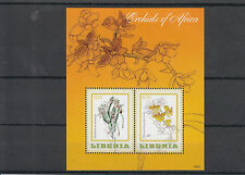 Liberia 2014 MNH Orchids of Africa 2v S/S Flowers Habenaria Polystachya