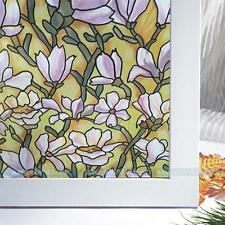45*150cm Orchid Window Film Privacy Stained Glass Film Bathroom Window Decor #2