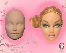 Face head silicone molds barbie doll mould girl mould  fondant cake fimo