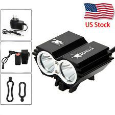 SolarStorm 5000Lm 2xCREE XM-L T6 LED Front Bicycle Bike Lamp Headlamp Headlight