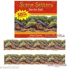 DESERT FAUNA BORDER ROLL DECORATION (50ft) ~ Birthday Party Supplies Country