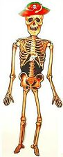 Jointed Skeleton Hanging Decoration 4ft ~ Halloween Pirates of Carribean Scary