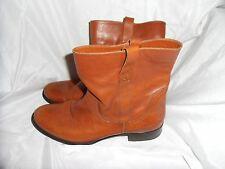 MINELLI WOMEN'S BROWN LEATHER PULL UP ANKLE BOOTS SIZE UK 4 EU 37 VGC RRP £139