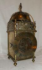 """Antique LARGE Lantern CLOCK With WINTERHALDER HOFMEIER Brass """"JERVIS"""" Dial 39cm"""