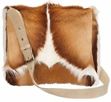 Springbok fur handbag Mini Postman Springbok Handbag - real genuine leather bag