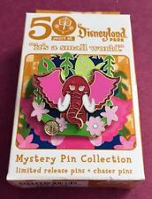 """Disney """"50"""" Years at Disneyland It's a Small World Red Elephant Mystery Pin"""