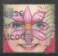 GB GREAT BRITAIN 2001 MILLENNIUM FACE PAINTING stamp 2nd class - see scan
