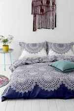 URBAN OUTFITTERS PLUM & BOW GOSSAMER NAVY BLUE & WHITE DUVET COVER - FULL/QUEEN