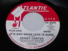 Kenny Carter: It's Sad When Love Is Gone / Same 45 - Soul