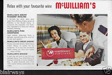 AIR NEW ZEALAND-TEAL 1963 LOCKHEED ELECTRA MCWILLIAM'S AUSTRALIAN WINES AD