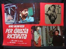 FOTOBUSTA CINEMA - PER GRAZIA RICEVUTA - NINO MANFREDI - 1970 - DRAMMATICO - 02