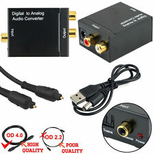 Digital SPDIF Optical Toslink Coax to Analog L/R RCA Audio Converter+ 1 M Cable