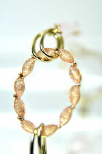 ELEGANT GOLD PINK BRACELET BRAND NEW UNIQUE  MULTI LAYER / STONE ST31)