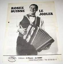 Partition vintage music sheet Valse ROSEE SUISSE / LE JODLER * 80's Accordeon