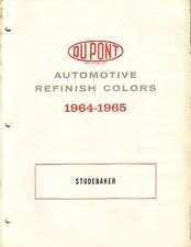 1964 1965 STUDEBAKER CAR (USA AND CANADIAN) PAINT CHIPS