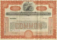Associated Gas and Electric   1926 New York power utility stock certificate