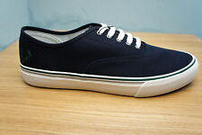 Fred Perry Mens Clarence Canvas Shoes Navy Blue Plimsolls Shoes Size 7 UK BNWB