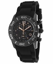 Swiss Legend 10128-01-Ra Commander Diamonds Chronograph Black Silicone And Dial