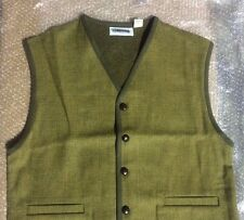 ORVIS Pure Wool Plaid SWEATER VEST Size XL