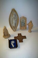 Vintage lot of 6 religious statues  Virgin Mary lot