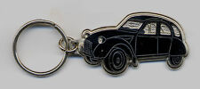 Citroen 2CV Duck Key chain black enamelled 48x27mm without chain