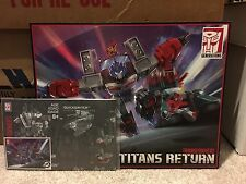 Transformers Titans Return Chaos On Velocitron TRU Instructions, Card, Poster