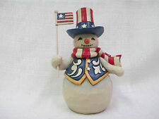Jim Shore Stars And Stripes In All Seasons Pint Sized Snowman Uncle Sam Hat NIB
