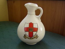 LARGE COWES ISLE OF WIGHT ANCIENT 2 CRESTS BRADING EWER - GOSS CRESTED CHINA