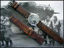 24mm Distressed Aged Vintage calf Military Bomber Pilot Pan watch band IW SUISSE