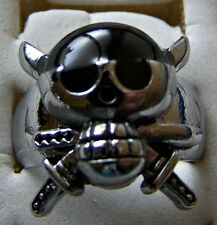 GOTHIC ~ S/STEEL ~ SIZE:8.5 ~PIRATE_SCULL~  RING -- (GREAT_CHRISTMAS_GIFT)