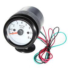 2'' 52mm 12V Blue LED Car Auto Tacho Gauge Meter Tachometer RPM Holder