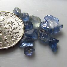 UNHEATED Natural Cornflower Blue Montana YOGO Sapphire Parcel Rough USA Gems BN
