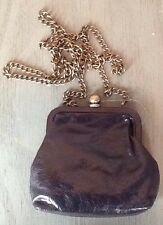 NWT HOBO INTERNATIONAL $88 Libby Black Leather Retro Look Small Purse