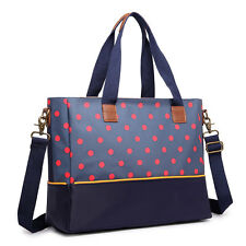 Mummy Baby Nappy Diaper Changing Maternity Bag Set Wipe Clean Polka Dots Navy