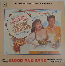 "OST - SOUNDTRACK - VICTOR YOUNG - GOLDEN EARRINGS / BLOOD AND SAND 12"" LP (L660)"