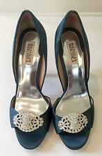 Badgley Mischka Lavender Jeweled Peep Toe Dress Pumps - Blue 8.5 EUC