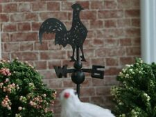 Metal Cockerel Weathervane Doll House Miniatures Roof Steeple Church Accessory